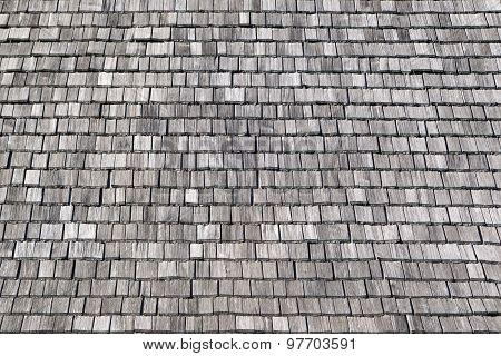 Gray wooden shingles