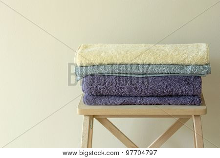 Bath Towel On Table