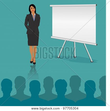 Vector, business, conference, concept, flat, style