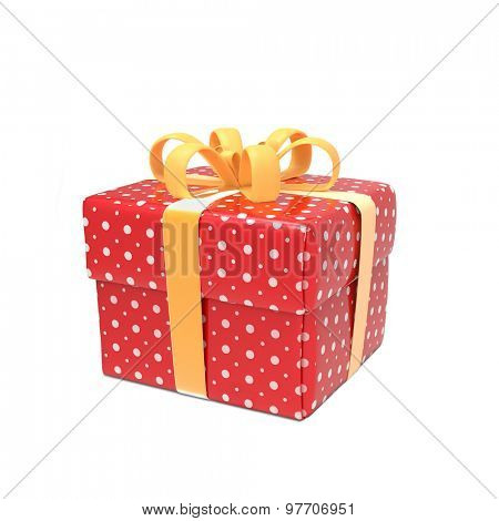 Red gift-box