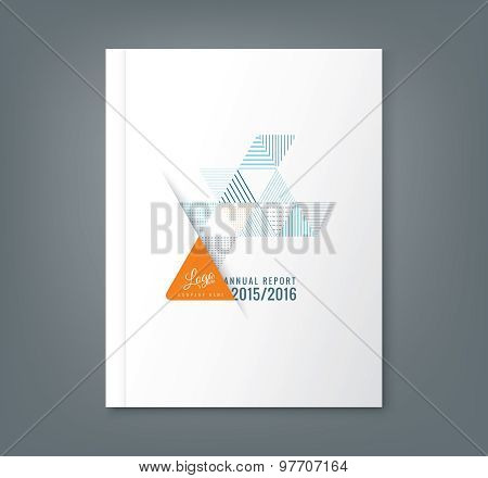Abstract Triangle Stripe Shape Background For Business Annual Report