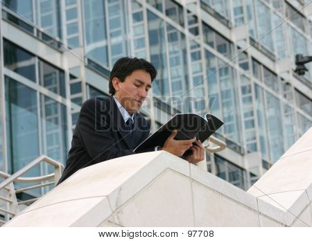Business Man Reading Mag - Andres