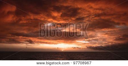 Summer abstract sunset at sea.
