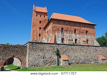 Exterior of the Trakai castle in Trakai, Lithuania.