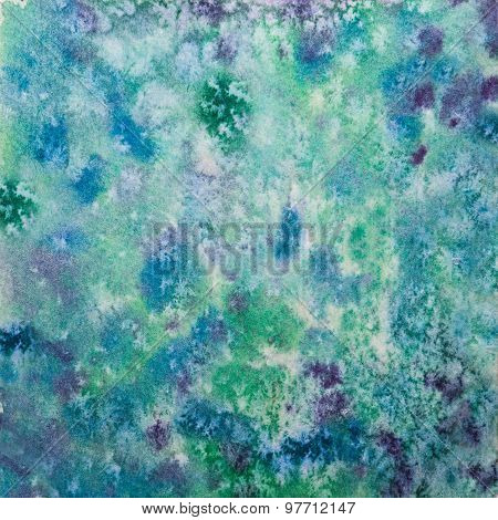 Hand Drawn Green-blue Watercolor Background