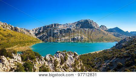 The Artificial Cuber Lake In The Sierra De Tramuntana