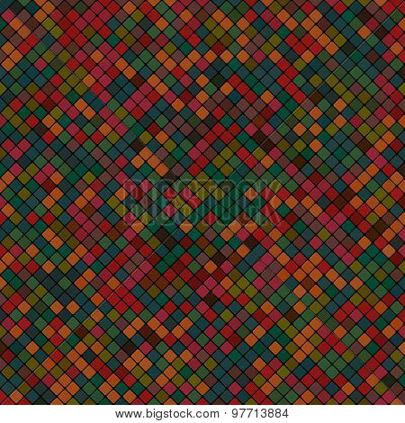 Background Abstract Mosaic Of The Grid Pixel Pattern And Colored Squares