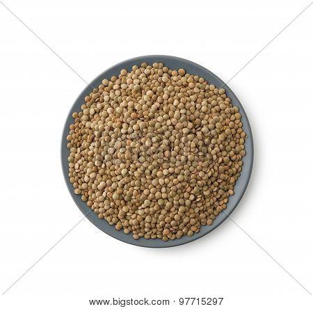 Lentils Heap On Plate