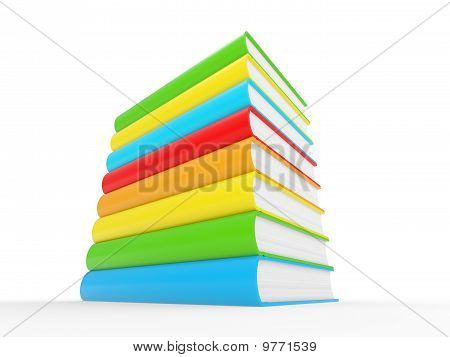 Colorful Books Stack