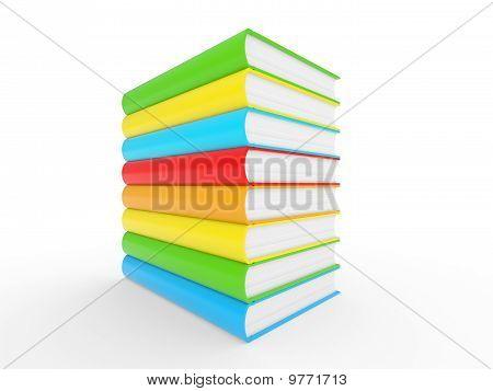 Colorful Books Stack