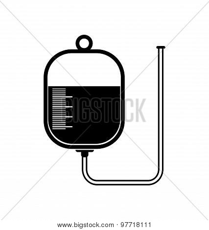Intravenous Therapy System Icon. Medical Dropper.