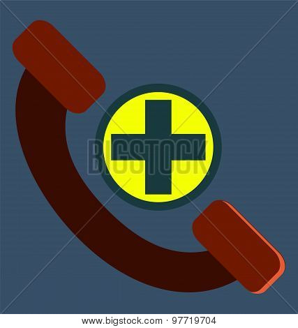 Help Line, Phone, Telephone Icon Vector Image, For Healthcare. Medical Concept.