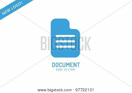 Abstract document template logo icon. Back to school. Education, university, college symbol or knowl