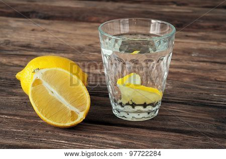 Glass Of Water With Lemon Slices