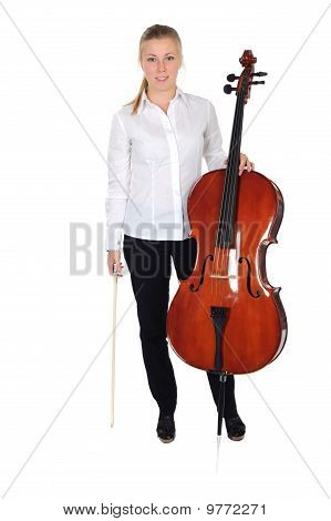 Young Cellist with cello