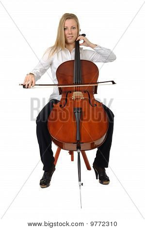 Young Cellist Playing cello
