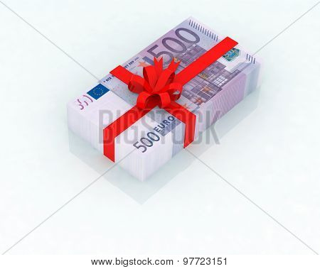 500 euro bank notes like gift