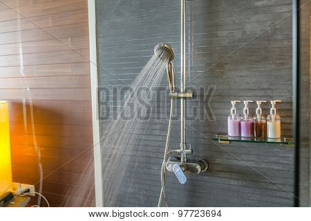 Shower while running water