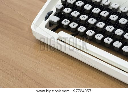 Vintage typewriter keyboard