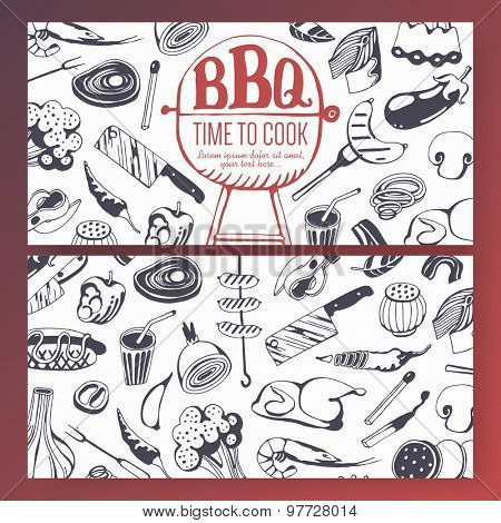 Food flyer - barbecue party, BBQ background