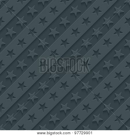Stars and stripes wallpaper. 3d seamless background. Vector EPS10.