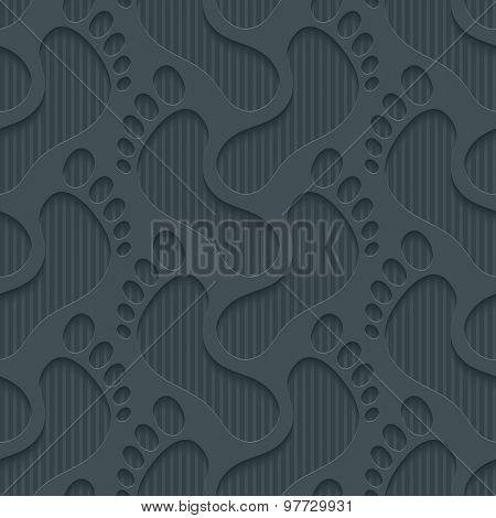 Footprints wallpaper. 3d seamless background. Vector EPS10.