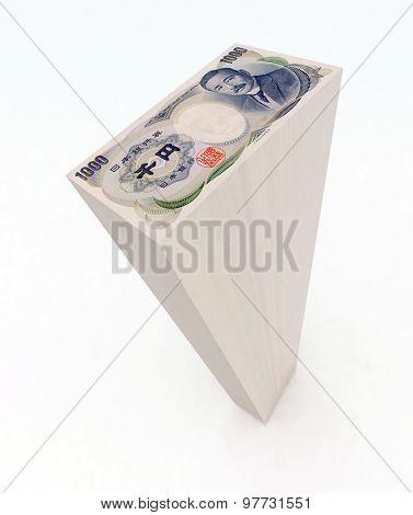japanese Yen bank notes Tower