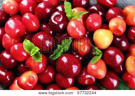 Sweet cherries, close-up