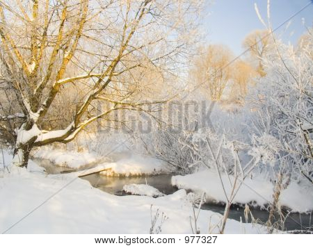 Winter Landscape With The River