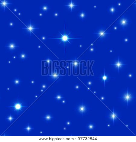 Bright space seamless pattern