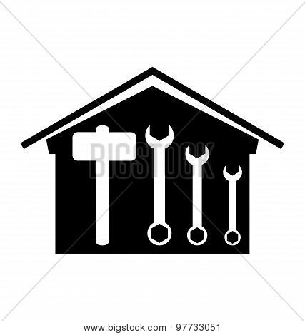 House With Spanner And Hammer