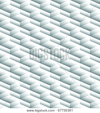Grayscale, Monochrome Seamless Pattern, Background With 3D Cubes