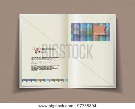 Vector blank. Template for design