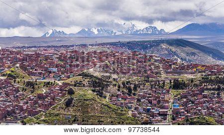 View Over La Paz The Biggest City In Bolivia