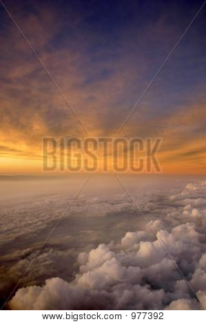 Aerial Sunset And Clouds
