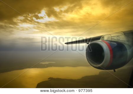 Jet Engine Sunset