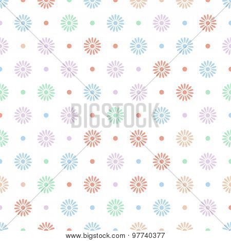 Various colorful flower seamless pattern background