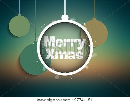 Merry Christmas Green Mesh Gradient