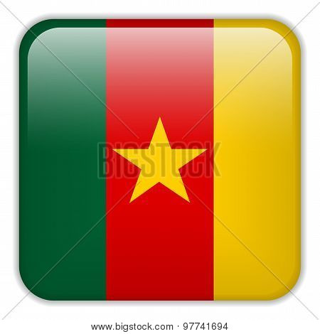 Cameroon Flag Smartphone Application Square Buttons
