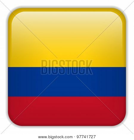 Colombia Flag Smartphone Application Square Buttons
