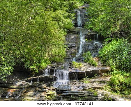 Tom Branch Falls In North Carolina