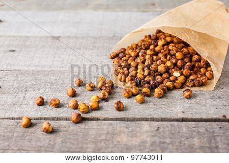 roasted chick peas snack