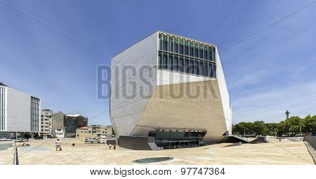 Porto, Portugal - July 05, 2015: View Of Casa Da Musica - House Of Music Modern Oporto Concert Hall.