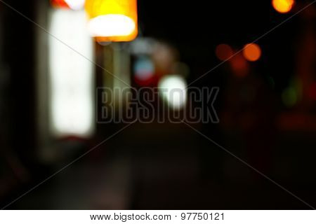 Blurred night lights background