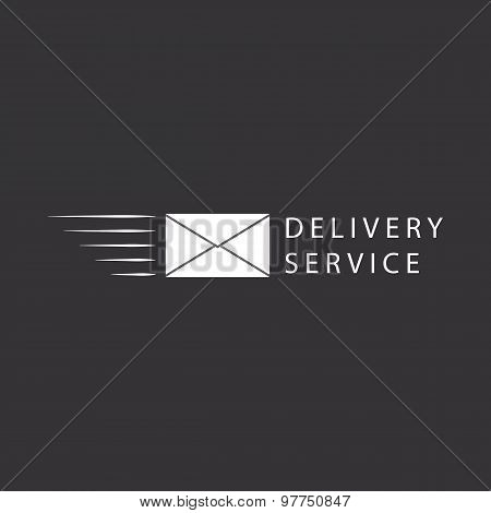 Flying Envelope, e-mail Logo Or mail Icon Design
