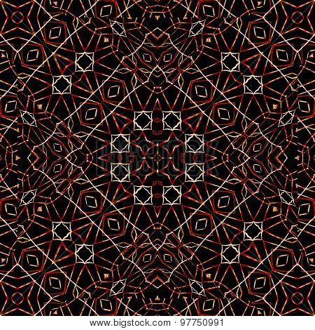Modern Ethnic Geometric Seamless Pattern