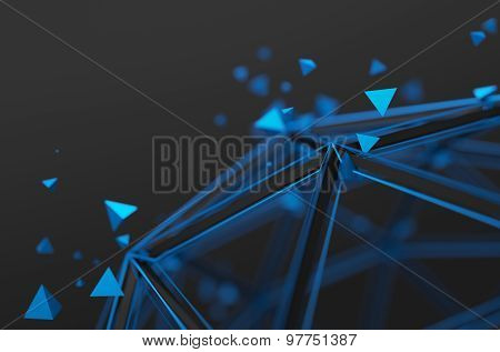 Abstract 3D Rendering of Futuristic Structure.
