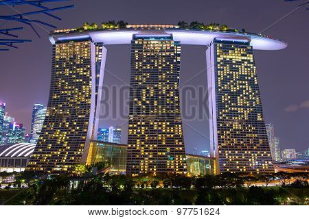 Marina Bay Sands is a Resort fronting Marina Bay in Singapore.