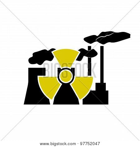 Nuclear energy station and radioactive technology sign