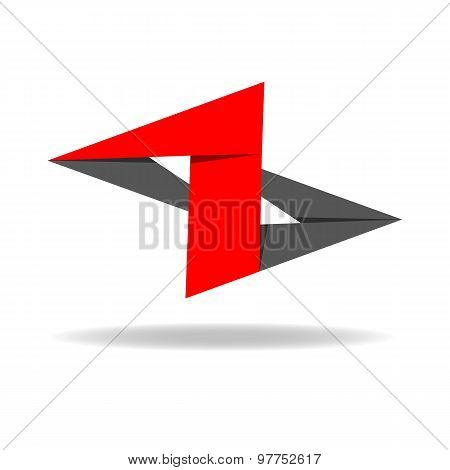 Abstract Logo Number One, Abstract Digit 1